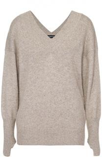 Кашемировый пуловер со спущенным рукавом и V-образным вырезом Tom Ford