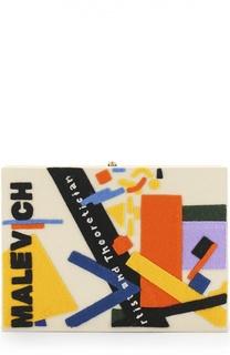 Клатч Malevich с аппликацией Olympia Le-Tan
