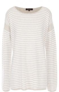 Удлиненный кашемировый пуловер в полоску Loro Piana