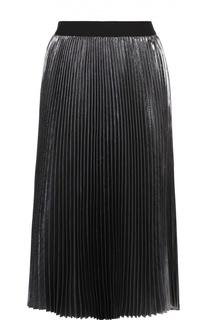 Плиссированная юбка-миди с металлизированной отделкой Escada Sport
