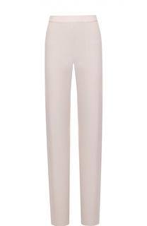 Шерстяные расклешенные брюки с эластичным поясом HUGO