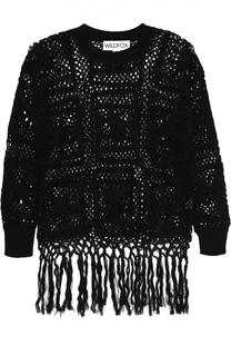 Пуловер крупной вязки с круглым вырезом и бахромой Wildfox