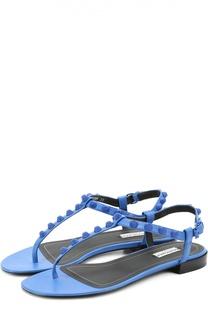 Кожаные сандалии с декором Balenciaga