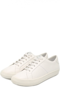 Кожаные кеды на шнуровке Marc Jacobs