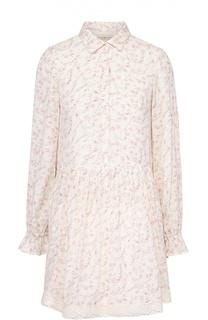 Платье-рубашка с цветочным принтом и кружевной отделкой Denim&Supply by Ralph Lauren