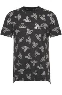 Хлопковая футболка с принтом Vivienne Westwood
