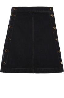 Джинсовая мини-юбка А-силуэта J Brand