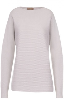 Пуловер фактурной вязки с вырезом-лодочка Cruciani