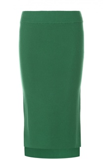 Вязаная юбка-карандаш асимметричного кроя DKNY
