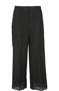 Укороченные расклешенные брюки с вышивкой Rochas