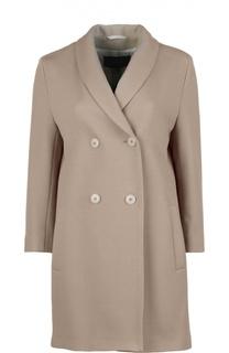 Шерстяное двубортное пальто с укороченным рукавом Windsor