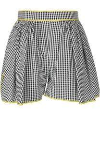Расклешенные мини-шорты с контрастной отделкой Dsquared2