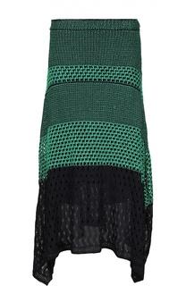 Асимметричная вязаная юбка с боковыми разрезами Proenza Schouler