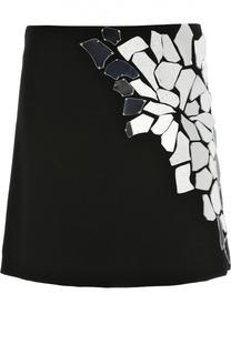 Мини-юбка с декоративной отделкой Loewe
