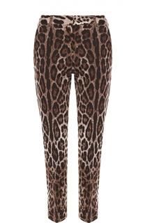 Укороченные брюки прямого кроя с леопардовым принтом Dolce & Gabbana
