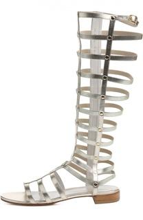 Кожаные сандалии Gladiator с заклепками Stuart Weitzman
