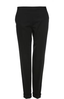 Зауженные брюки с отворотами и боковыми карманами The Row