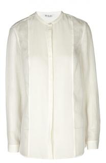 Полупрозрачная блуза прямого кроя с круглым вырезом Loro Piana