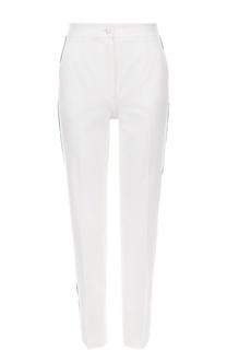 Укороченные брюки прямого кроя с контрастными лампасами Dolce & Gabbana