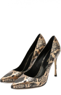Туфли из фактурной кожи на шпильке Sergio Rossi