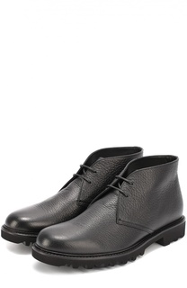 Кожаные ботинки на рифленой подошве Giorgio Armani