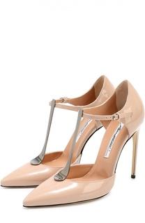 Лаковые туфли Astral с Т-образным ремешком на шпильке Brian Atwood