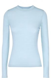 Приталенный пуловер с длинным рукавом и круглым вырезом HUGO