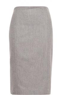 Шерстяная юбка-карандаш с разрезом Polo Ralph Lauren