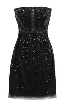Платье-бюстье с пайетками и перфорацией Basix Black Label