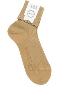 Шерстяные носки с контрастной отделкой Antipast
