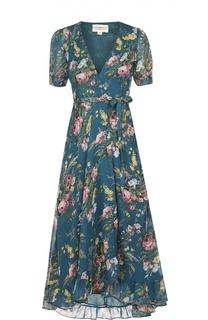 Приталенное платье асимметричного кроя с V-образным вырезом Denim&Supply by Ralph Lauren