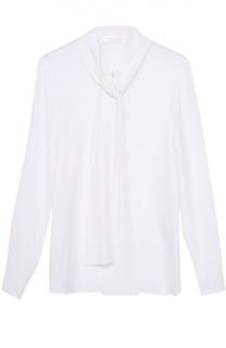 Блуза прямого кроя с воротником аскот HUGO