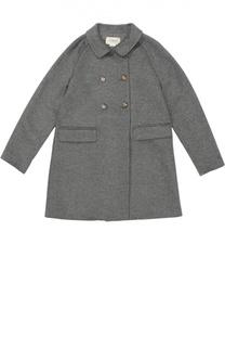 Двубортное пальто из смеси шерсти и кашемира Gucci