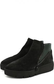 Замшевые ботинки с цветной вставкой Vic