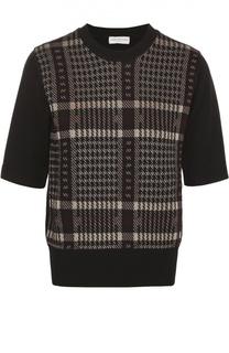 Пуловер с укороченным рукавом и круглым вырезом Dries Van Noten