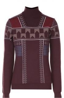 Шерстяной свитер с воротником-стойкой Peter Pilotto