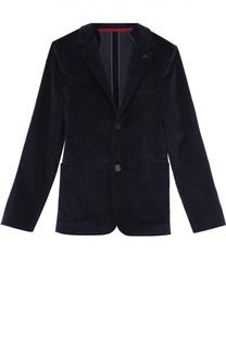 Однобортный пиджак из велюра Dal Lago