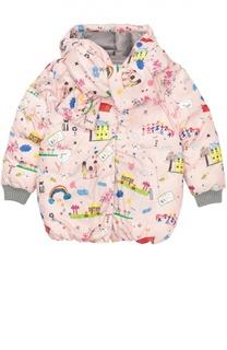 Пуховая куртка с шарфом Dolce & Gabbana