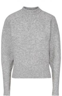 Пуловер прямого кроя с широкими рукавами DKNY