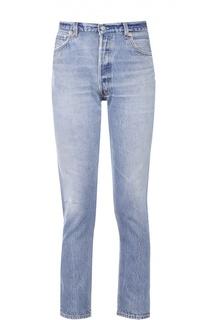 Укороченные джинсы прямого кроя с контрастной прострочкой Re/Done