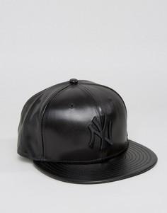 Бейсболка из искусственной кожи New Era 9Fifty NY Yankees - Черный