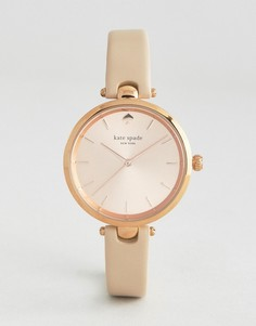 Kate Spade New York Rose Gold Holland Leather Watch - Золотой