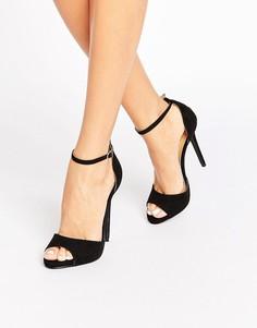 Черные сандалии на каблуке с ремешком на щиколотке Public Desire Saydee - Черный