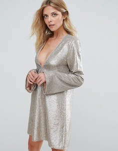 The Jetset Diaries Gold Diamond Dress - Золотой