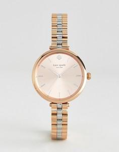 Металлические часы цвета розового золота Kate Spade New York Holland - Золотой