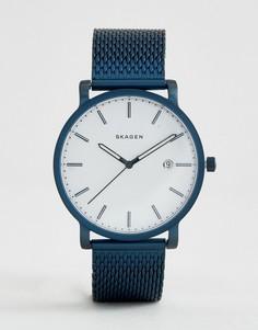 Синие часы с циферблатом 40 мм Skagen SKW6326 Hagen - Синий