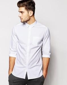 Белая оксфордская рубашка классического кроя с длинными рукавами New Look - Белый