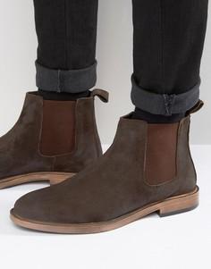 Замшевые коричневые ботинки челси KG by Kurt Geiger - Коричневый