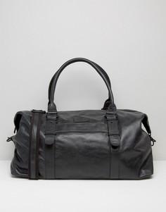 Черная кожаная сумка Barneys Explorer - Черный Barneys Originals