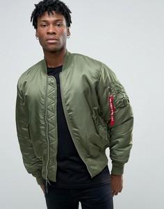 Зеленая куртка-пилот Alpha Industries MA-1 - Зеленый